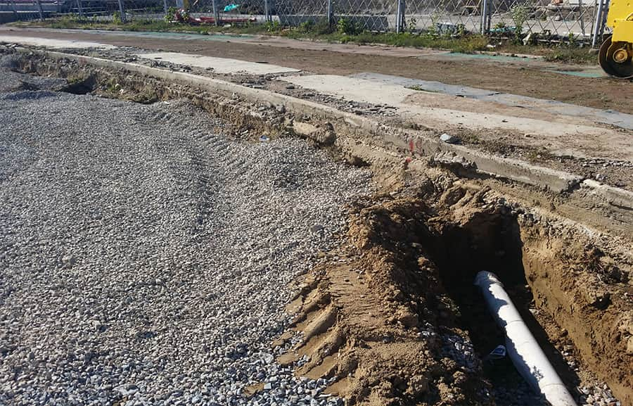 Construction of drainage systems